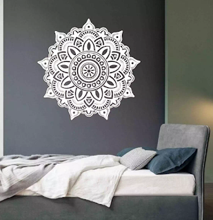 Dekorasi dinding, mandala, wall deco, indian deco, interior design, decoration,
