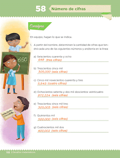 Respuestas Apoyo Primaria Desafíos Matemáticos 5to Grado Bloque IV Lección 58 Número de cifras