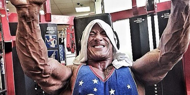dwyane johnson chest workout