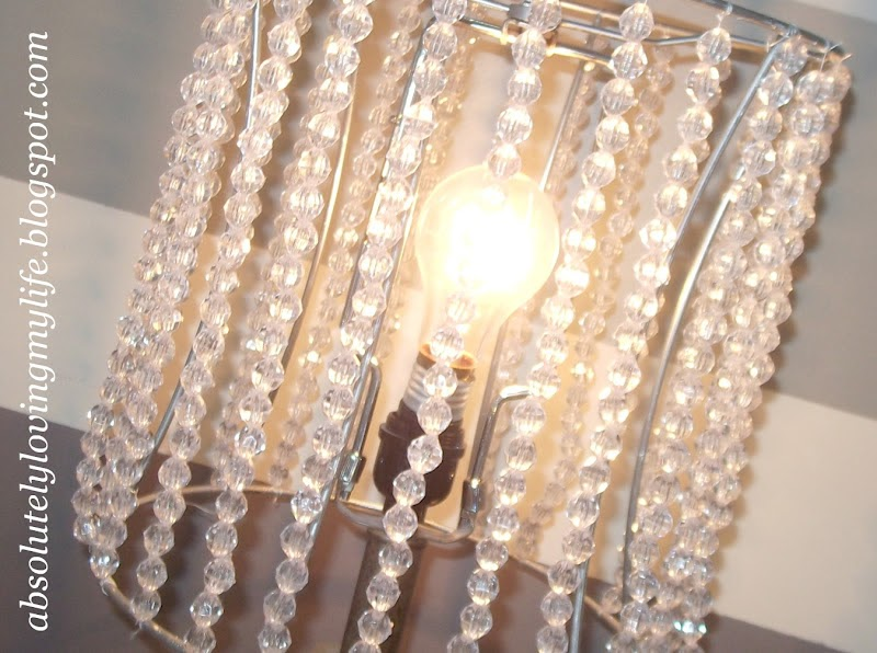 Loving Life: DIY Beaded Lamp Shades