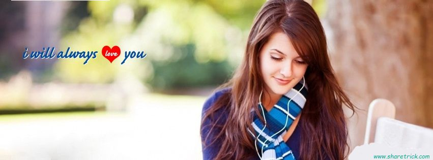 Beautiful Girl Listening Music Facebook Cover Picture