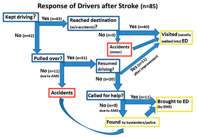 図:自動車運転中の脳卒中と事故