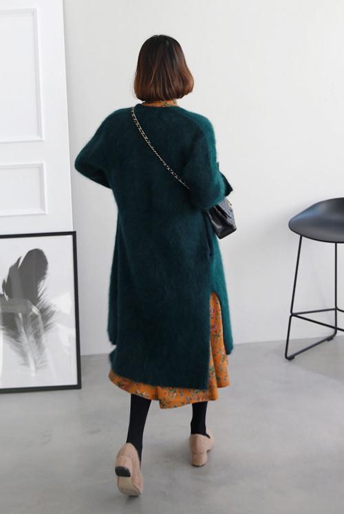 Angora Wool Midi Cardigan