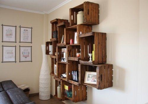 Cómo hacer estanterías de madera reciclada (II)
