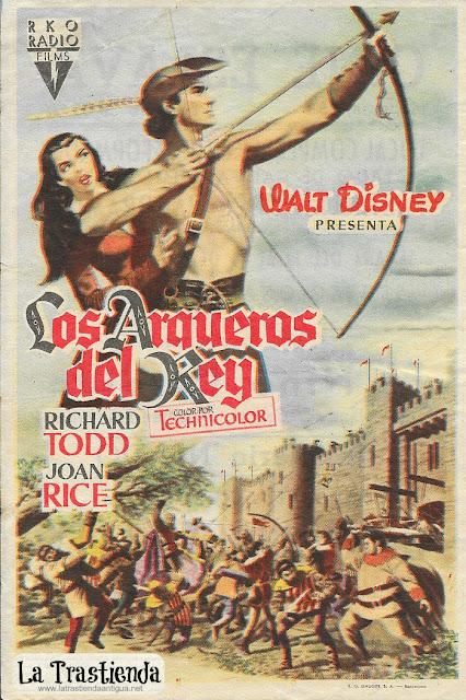 Los Arqueros del Rey - Programa de Cine - Richard Todd - Joan Rice - Peter Finch
