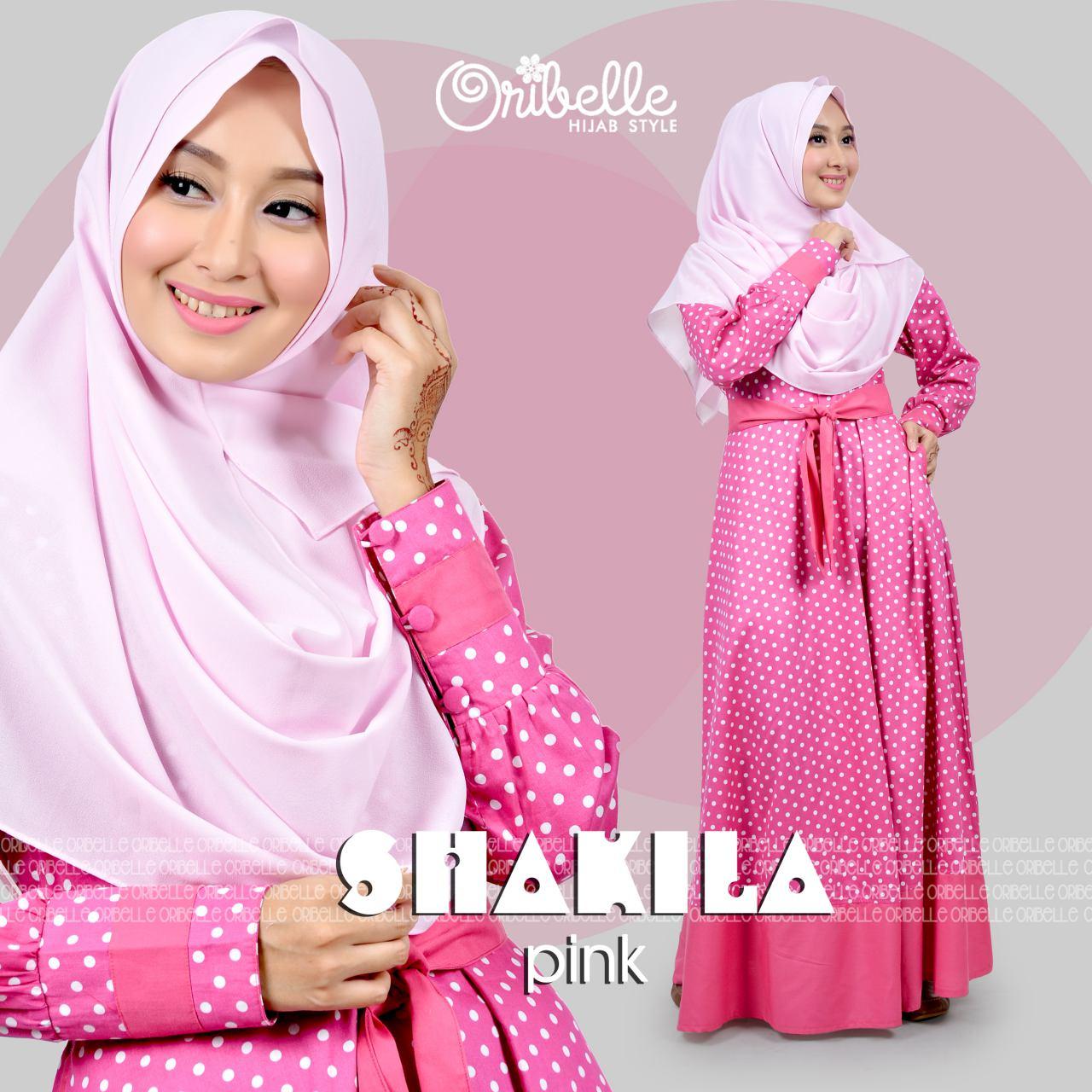Jual baju hijab jalan jalan shakilla dress by oribelle Model baju gamis bahan katun jepang