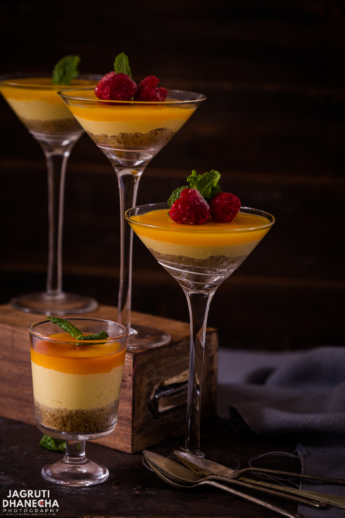 Heaven for any mango lover, luscious and exotic No Bake Mango and Ginger Cheesecake! A delicious new twist with spiced ginger. This pleasantly sweet cheesecake is an effortless recipe. It turns out right every time!
