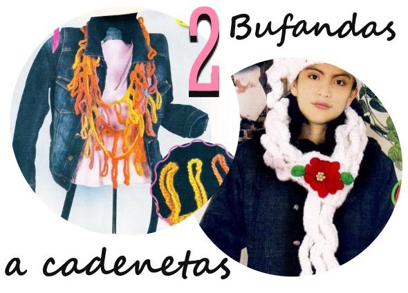 bufandas, ganchillo, cadenetas, principiantes, tejer