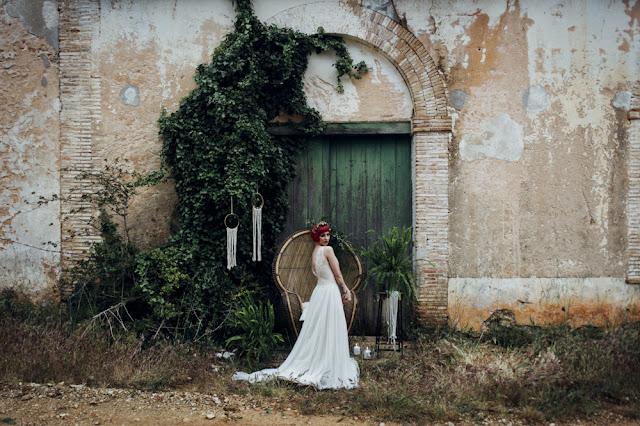 blog mi boda - editorial nupcial majestic greenery - novia tatuada