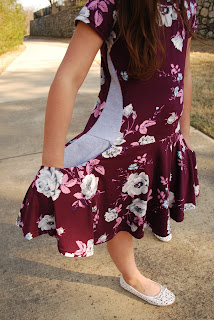 girl's dress pdf pattern circle skirt