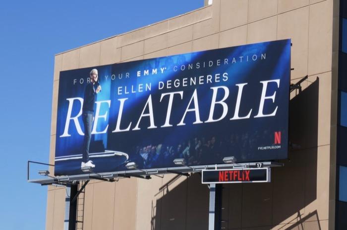 Ellen DeGeneres Relatable Emmy FYC billboard