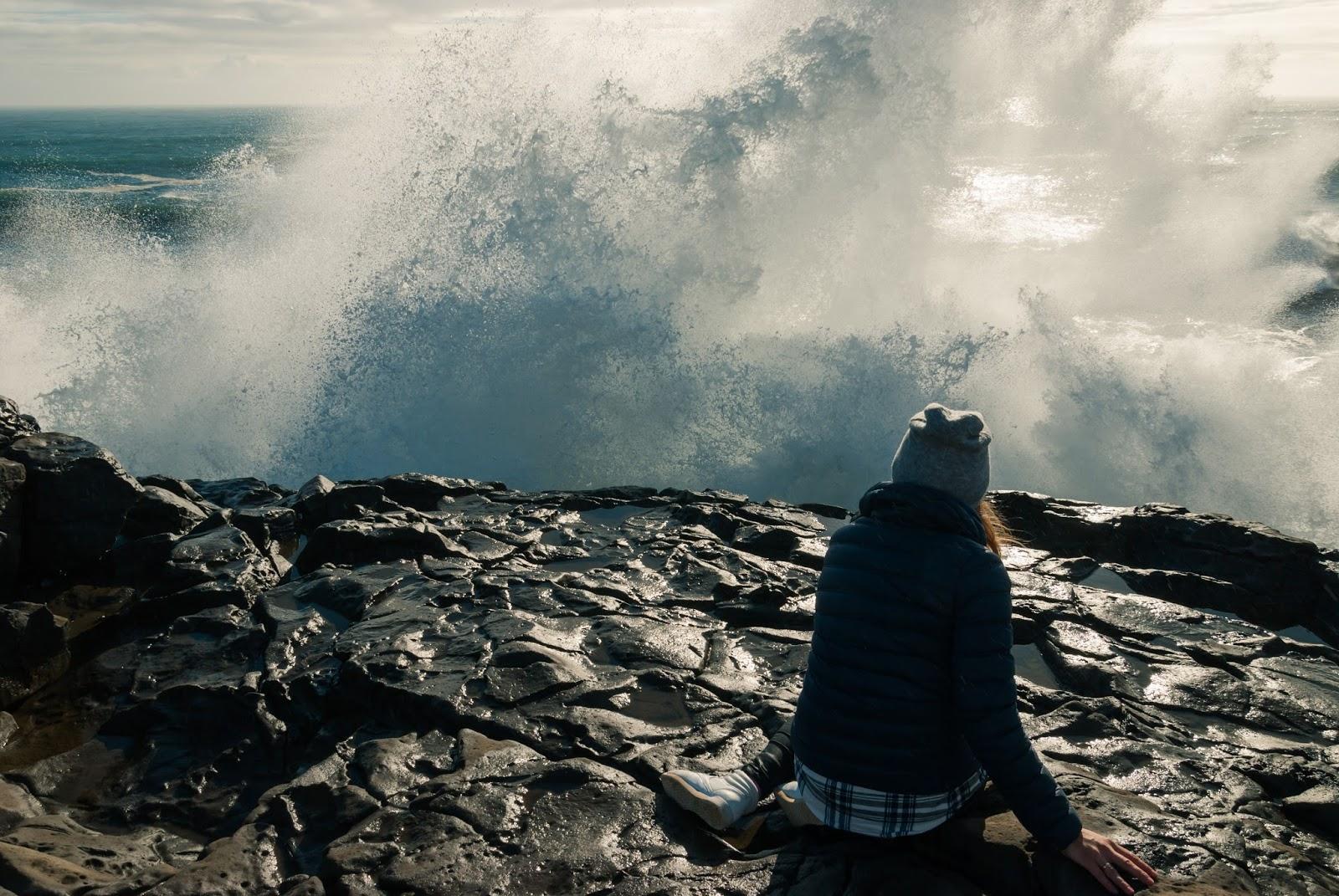 Islandia, półwysep, Dyrhólaey, ocean, Ocean Atlantycki