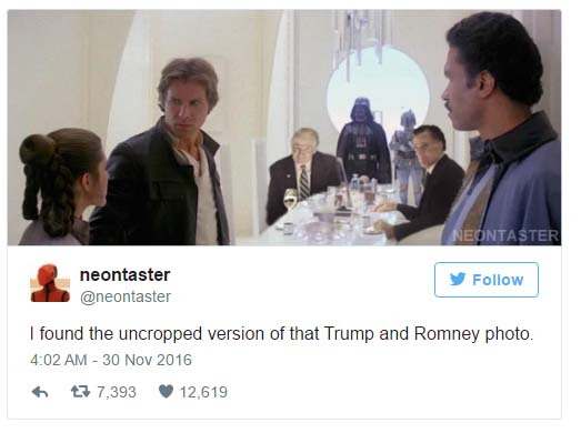 gh trump and mitt romney have dinner twitter reacts with memes