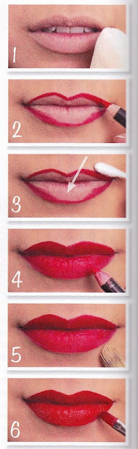 maquillage pin up bouche