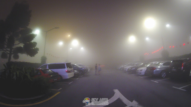 The mysterious look of Genting Highlands because of the mist