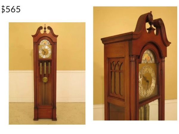 Colonial Grandfather Clock restored