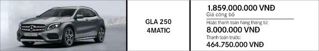 Giá xe Mercedes GLA 250 4MATIC 2018 tại Mercedes Trường Chinh