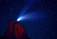 Comet Hale-Bopp over Indian Cove
