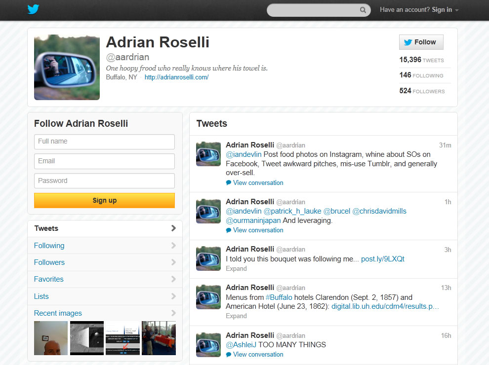 Reviewing Twitter's New Profile Header | Adrian Roselli