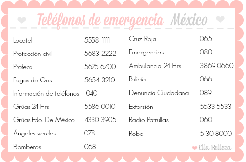 Teléfonos de emergencia México