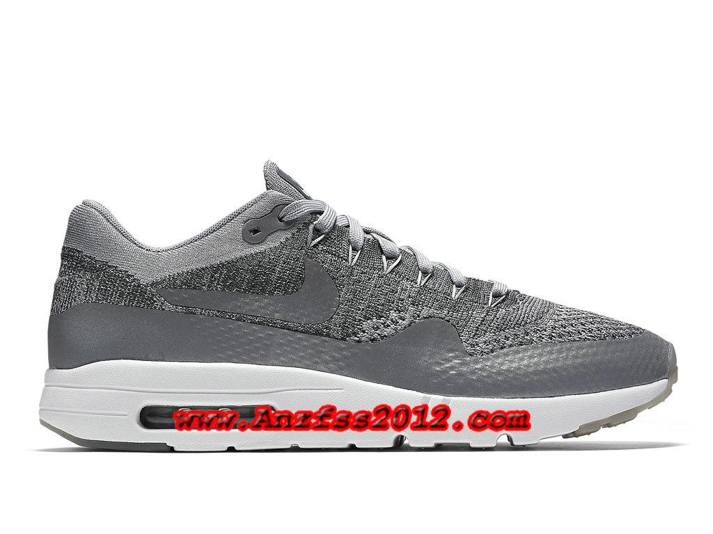 newest 15d44 05d3a Nike Air Max 1 Ultra Flyknit Wolf Grey 843384 001. Couleur Gris loup Gris  foncé Blanc Gris loup. Référence  843384 100