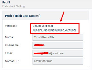 cara verifikasi akun Vip bitcoin.co.id klik belum verifikasi