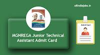 MGNREGA Junior Technical Assistant Admit Card
