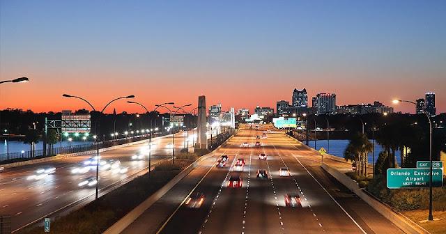 Velocidade nas estradas em Miami e Orlando