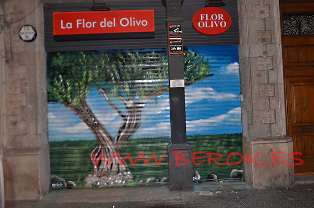 graffiti la flor del olivo