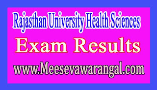 Rajasthan University Health Sciences B.Sc Nursing Post Basic Revaluation June 2016 Exam Results