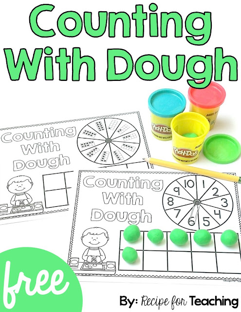 https://www.teacherspayteachers.com/Product/FREE-Counting-With-Dough-2704666
