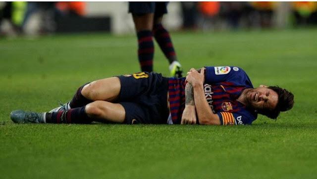Messi cracks arm as Barcelona enlist triumph