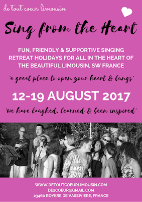 sing from the heart, sing afrique, african music, singing workshop, de tout coeur limousin, Limousin, Ali Bullivent, Imba Basi Band, singing holidays, singing lessons, France, Nouvelle Aquitaine, La Cabane de la Plage, Broussas, Creuse, fete de la musique, haute vienne, Lac de Vassiviere, live music, whats on. music venue, retreats, rural France, off the beaten track, something different, music, making music, music workshops, world music, dancing, creative workshops, wellbeing, bien etre, ex pat, english spoken, community singing, community choir, pop, rock choir,