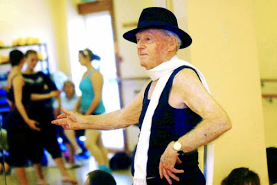 John Lowe, looking dapper at the Ballet Studio. Dancing while in his 90s. Grandpa-de-deux. marchmatron.com