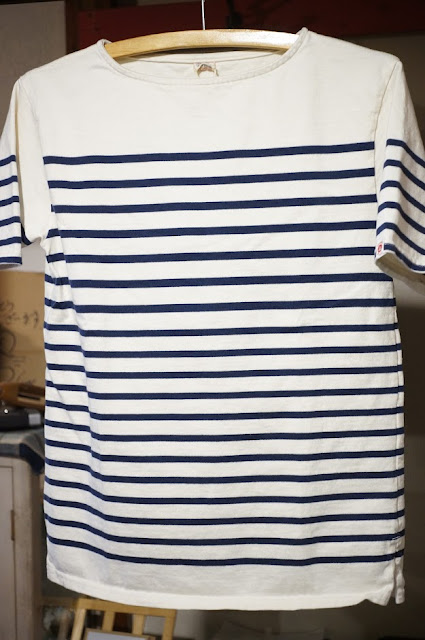 UES ボートネックボーダー半袖Tシャツ