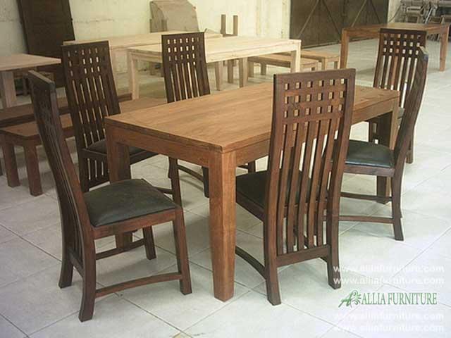 kursi meja makan set minimalis rangkai