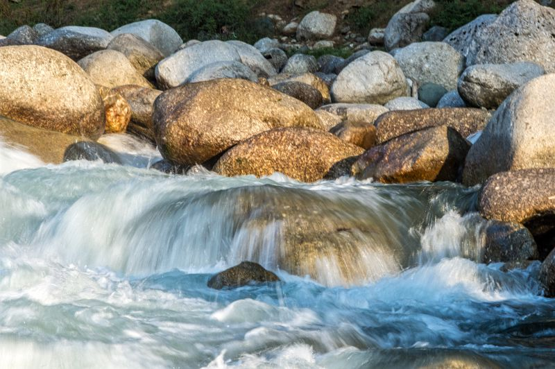 The mesmerising flow of the river washes away the bad experience of previous night