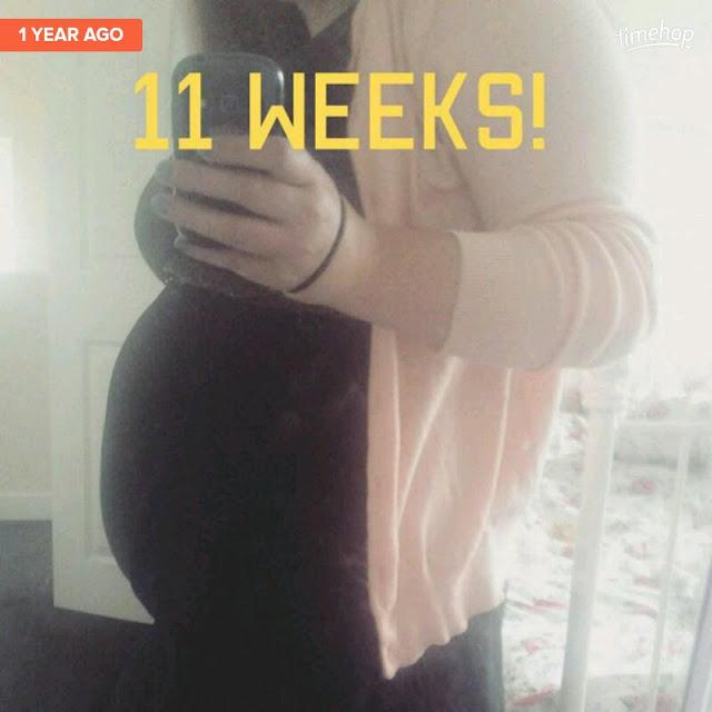Eleven weeks pregnant bump