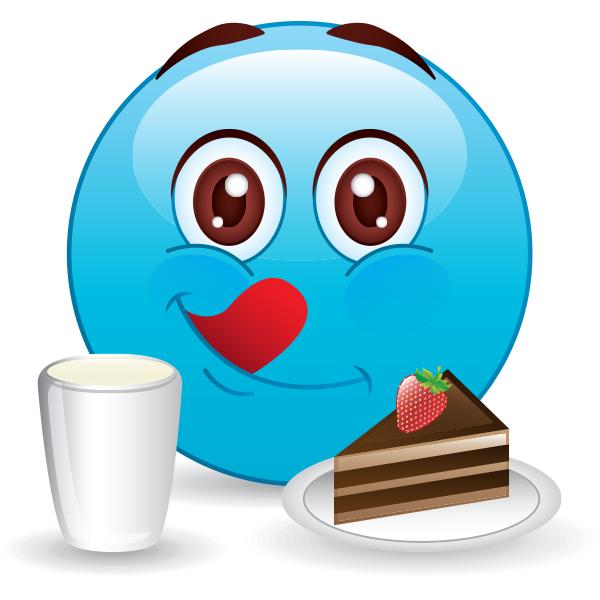 Emoji with cake