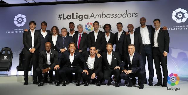 LaLiga presenta su espectacular equipo de embajadores