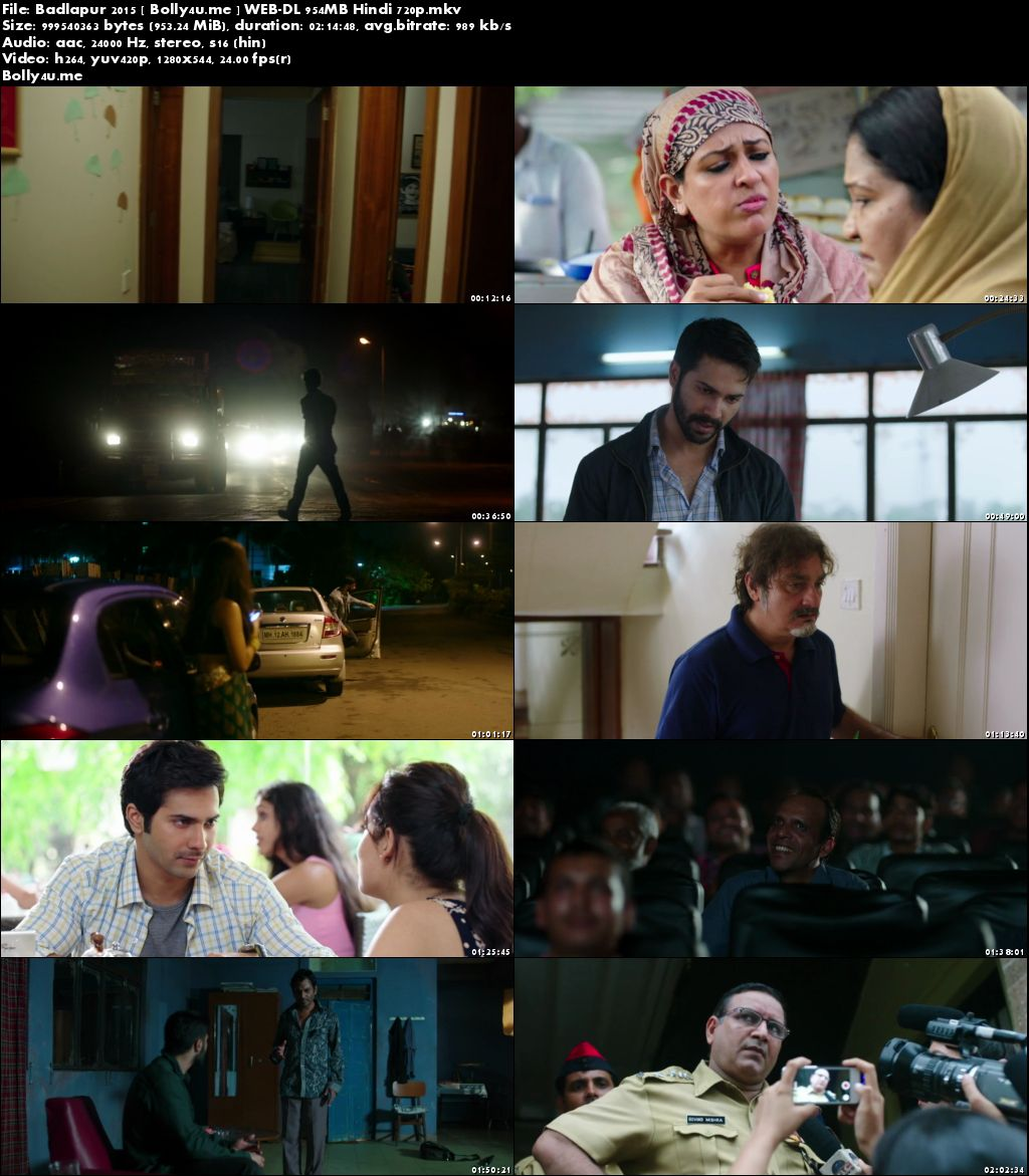 Badlapur 2015 WEB-DL 950MB Full Hindi Movie Download 720p