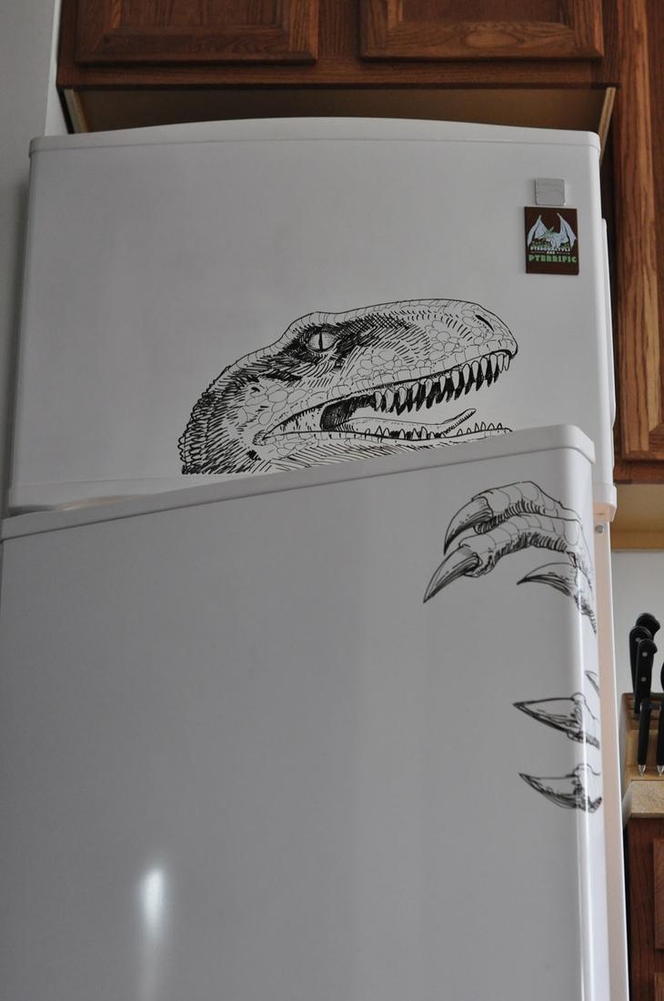 12-T-Rex-Charlie-Layton-Freezer-Door-Drawings-and-Illustrations-www-designstack-co