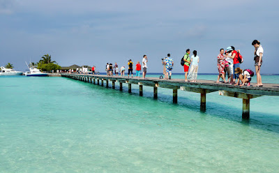 Tourists in Maldives