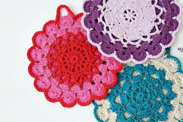 My Rose Valley New Pattern The Vintage Crochet Potholder Pattern