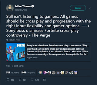 Mike Ybarra acusa a Sony de no escuchar a su comunidad gamer