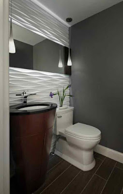 Bathroom+Paint+Ideas-Grey+Wall