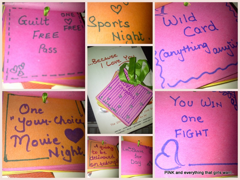 Cute love coupons for boyfriend Free Editable Love Coupons for Him