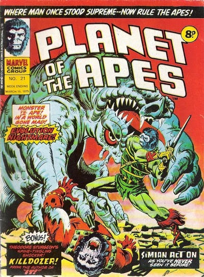 Marvel UK, Planet of the Apes #21, Evolution Nightmare