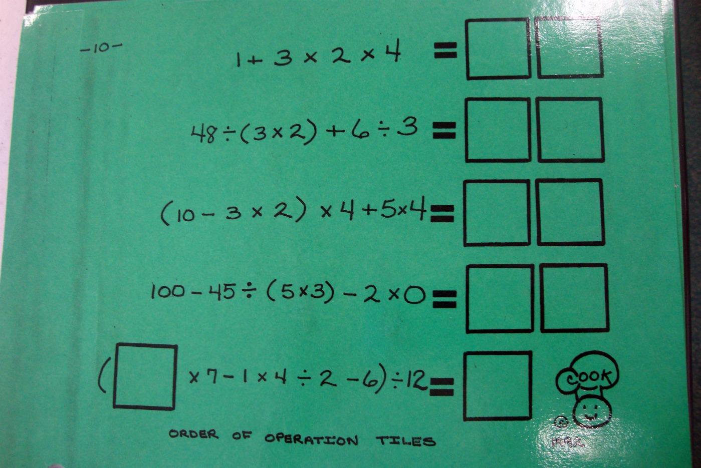 Math N Spire Algebra Tiles Order Of Operations