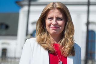 Zuzana Caputova sworn in as Slovakia's 1st Female President